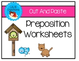 Preposition Worksheets- Cut And Paste