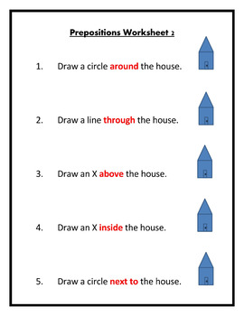 Preposition Worksheets Fully Editable