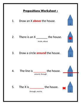 Preposition Worksheets Fully Editable