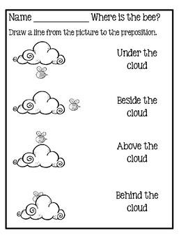 Preposition Worksheets