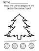 Preposition Worksheets - Winter Cut And Paste
