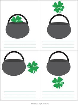 Preposition Writing Worksheet for St. Patrick's Day