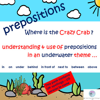 Prepositions: in, on, under, next to, below, above, between