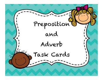 Differentiate Preposition and Adverb Task Cards