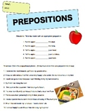 Preposition and Conjunction Worksheet