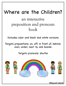 Preposition and Pronoun Interactive Book