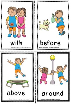 Preposition flash cards(50% off for 48 hours)