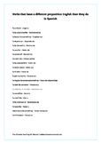 Preposition help for Spanish speakers learning ESL/EFL English