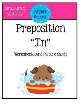 "Positional word ""in"" - Worksheets And Picture Cards"