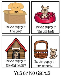 """Positional word """"in"""" - Worksheets And Picture Cards"""