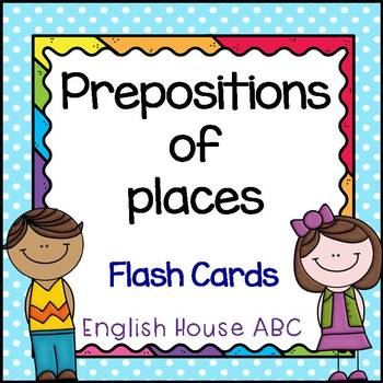 Preposition of Places - Flash Cards