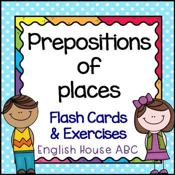 Preposition of Places - Flash Cards & Exercises