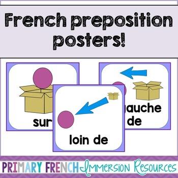 Preposition posters - French - les prépositions