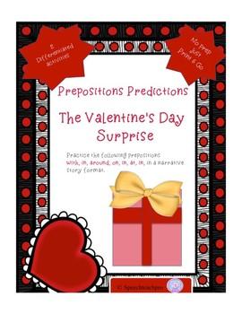 Preposition Predictions- Valentine's Day
