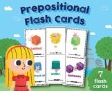 Prepositional Flash Cards, Preschool, Kindergarten Classro