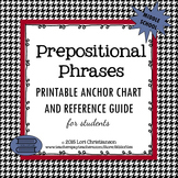 Prepositional Phrase Easy Reference Sheet