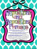 Prepositional Phrase Activities, Assessment, Worksheets--Common Core Aligned