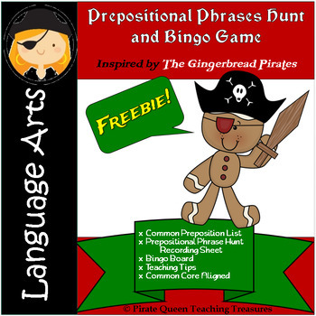 Prepositional Phrase Hunt and Bingo Game—Freebie!
