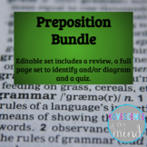 Prepositional Phrase Bundle: Identify, Diagram, Review, and Test