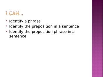 Prepositional Phrase PowerPoint
