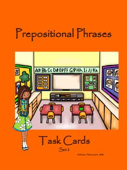Prepositional Phrase Task Cards Set 2