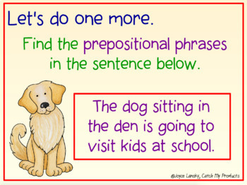 Parts of Speech : Prepositional Phrases in Power Point