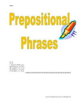 Prepositional Phrases Booklet