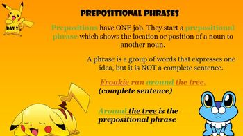 Prepositional Phrases- Daily Revising and Editing Lessons