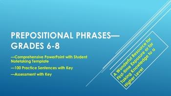 Prepositional Phrases—Grades 6-8
