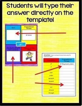Prepositional Phrases Interactive Notebook Google Drive Activities