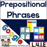 Prepositional Phrases Interactive Notebook Google Drive Activities L.4.1.E