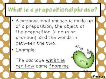 Prepositional Phrases Mini Bundle