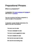 Prepositional Phrases Nomenclature Montessori