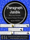 Prepositional Phrases Paragraph Sequencing