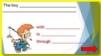 Prepositional Phrases PowerPoint:  Finish the sentence