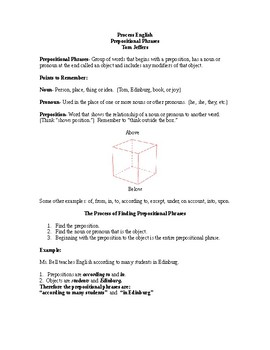 Prepositional Phrases - Process English