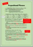 Prepositional Phrases Worksheet (w/ ANSWER KEY, editable)