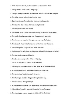 Prepositional Phrases Review Worksheet or Homework with Detailed Answer Key
