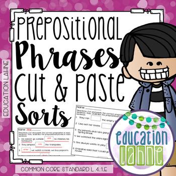Prepositional Phrases Sort