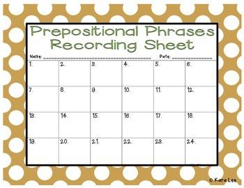 Prepositional Phrases Task Cards - Set of 24