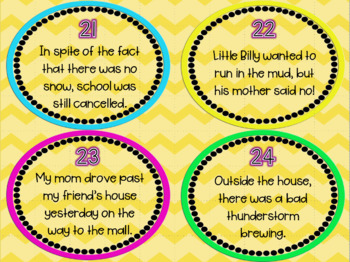 Prepositional Phrases Task Cards - Set of 28