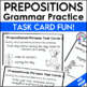 Prepositional Phrases Task Cards for Differentiation