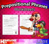Distance Learning - Prepositional Phrases Worksheets