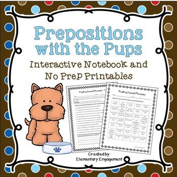 Prepositional Phrases Interactive Notebook & No Prep Printables