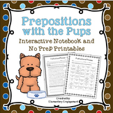 Prepositional Phrases Interactive Notebook & No Prep Printables