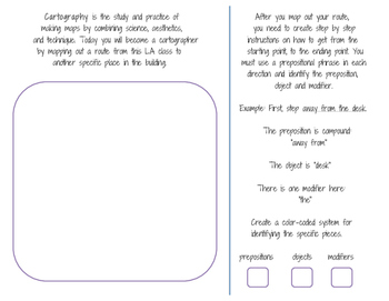 Prepositional Phrases and Map-Making Activity
