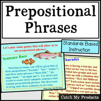 Parts of Speech : Prepositional Phrases for the Promethean Board