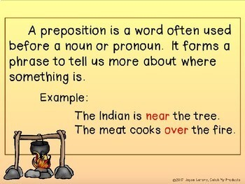Prepositional Phrases in Power Point (Native American Edition)