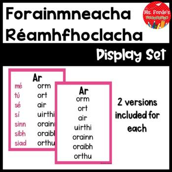 Prepositional Pronouns (Gaeilge) in Irish Full Pack