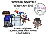 Prepositional Speech Snowman Interactive Book